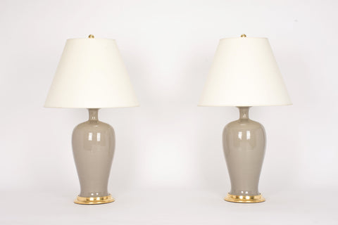 Pair of Amy Lamps in Grey