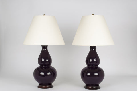 Pair of Aurora Lamps in Purple