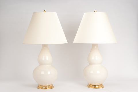 Pair of Aurora Lamps in Blanc de Chine