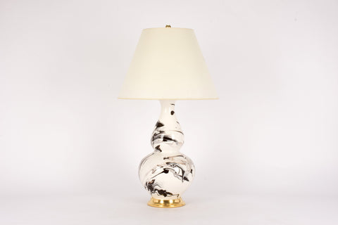 Single Aurora Lamp in Brown Marble