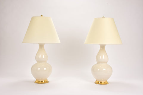Pair of Aurora Lamps in Clear