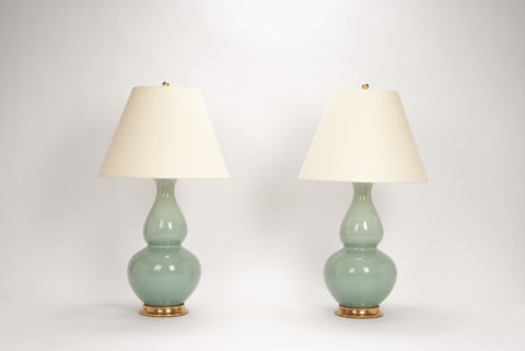 Pair of Aurora Lamps in Duck Egg