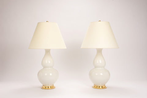 Pair of Aurora Lamps in Frost