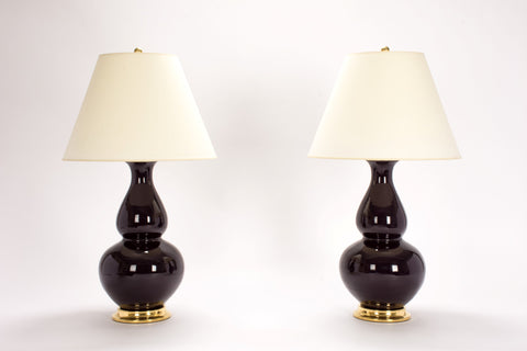 Pair of Aurora Lamps in Pruple
