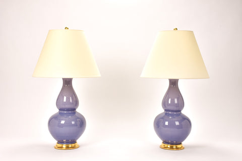 Pair of Aurora Lamps in Wisteria