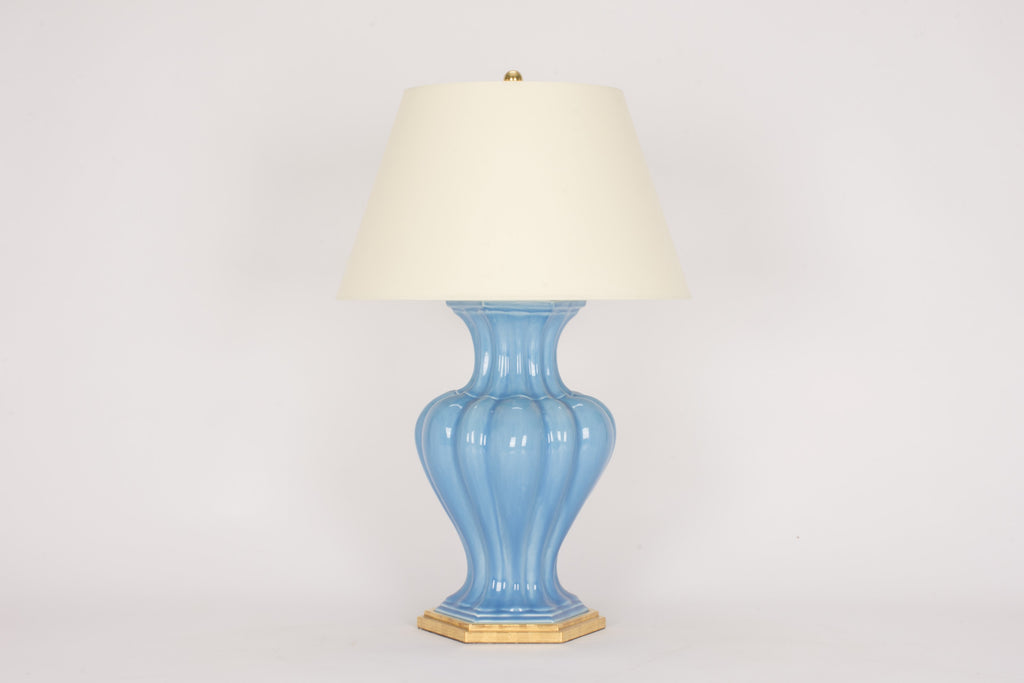 Single CM Moss Villa Lamp in Cornflower
