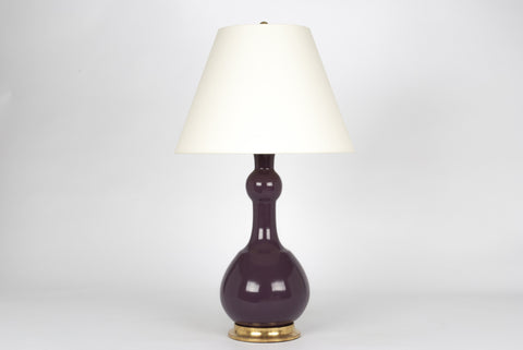 Single Cameron Lamp in Aubergine