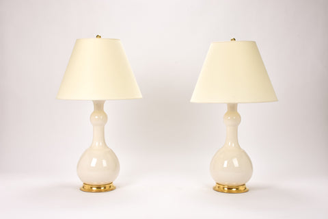 Pair of Cameron Lamps in Clear