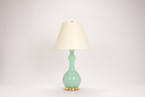 Single Cameron Lamp in Pale Blue Green