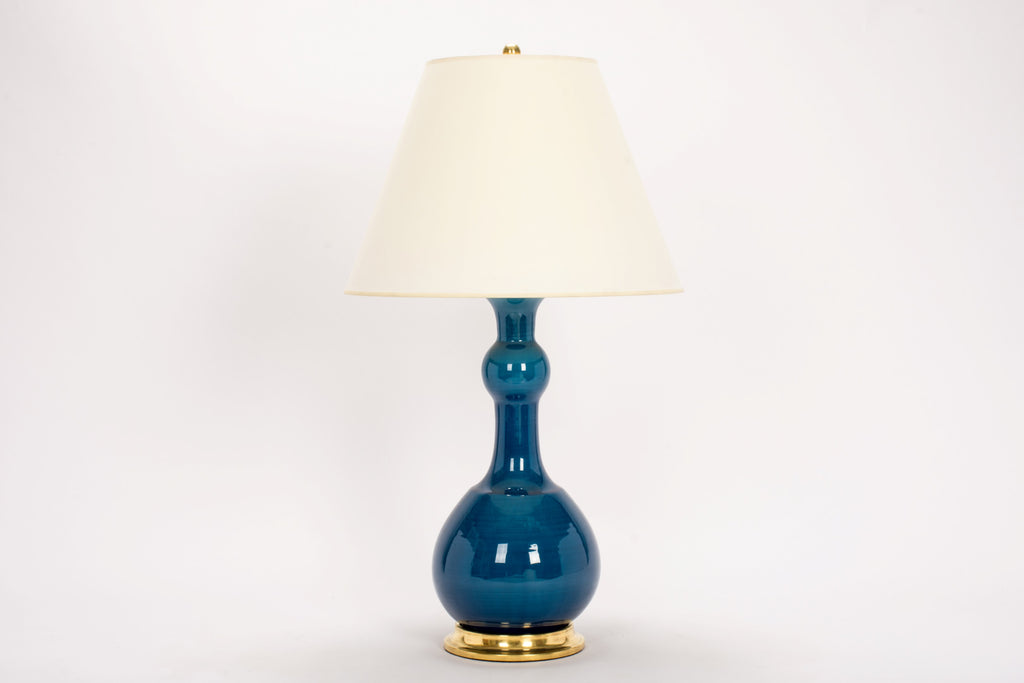 Single Cameron Lamp in Prussian Blue