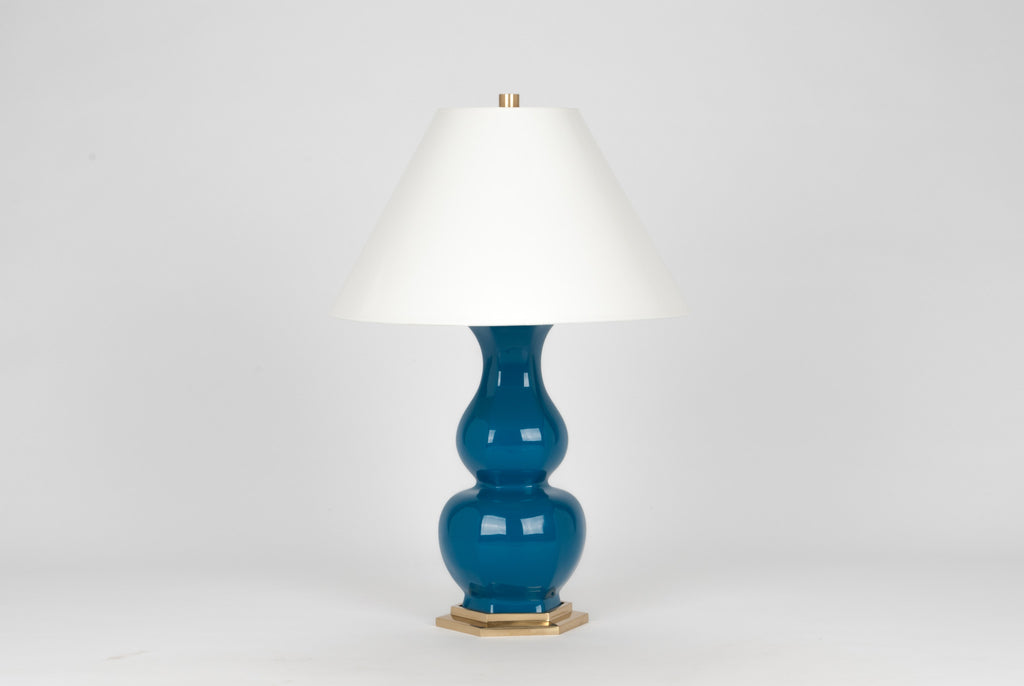 Carleton by Christopher Spitzmiller Sebastian Lamp in Teal Lacquer