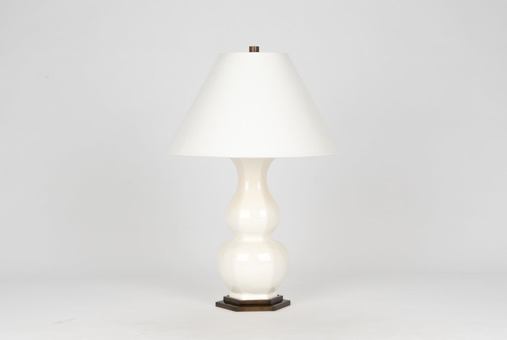 Carleton by Christopher Spitzmiller Sebastian Lamp in White Lacquer