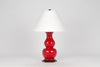 Carleton by Christopher Spitzmiller Sebastian Lamp in Cardinal Red Lacquer
