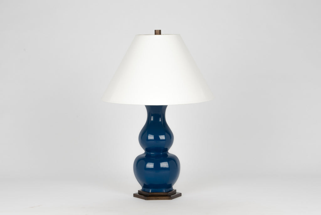 Carleton by Christopher Spitzmiller Sebastian Lamp in Midnight Blue Lacquer