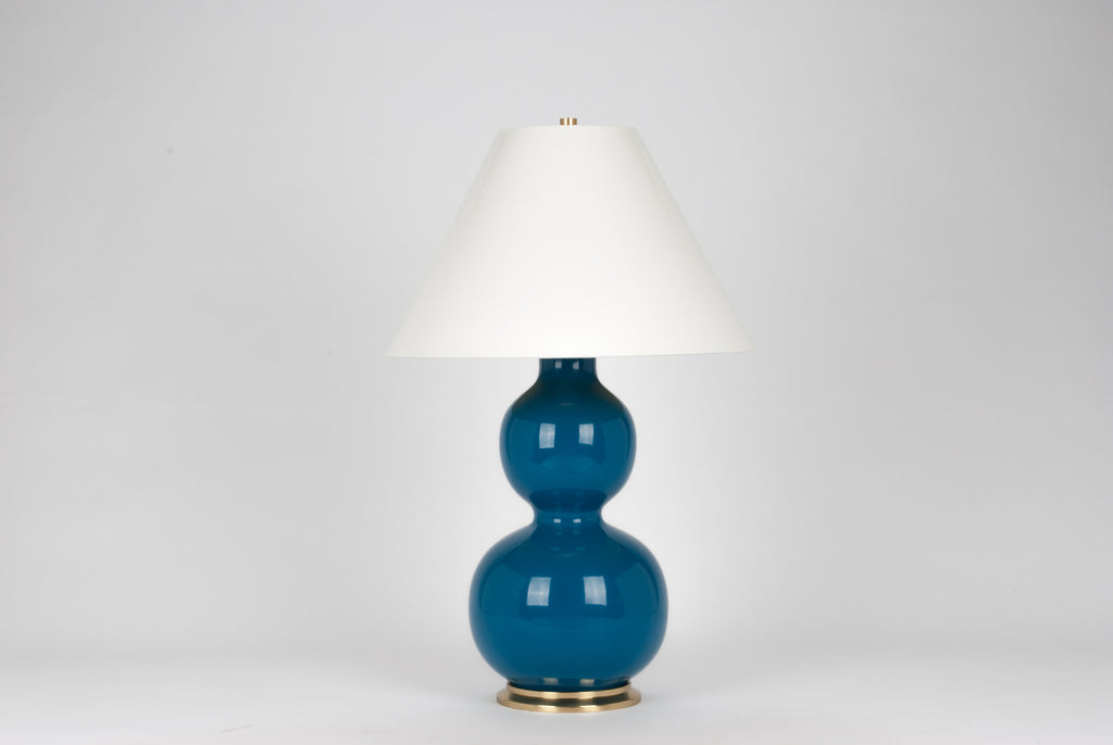 Carleton by Christopher Spitzmiller Natalie Lamp in Teal Lacquer
