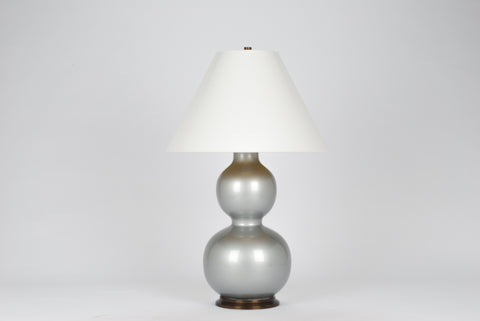 Carleton by Christopher Spitzmiller Natalie Lamp in Silver Lacquer