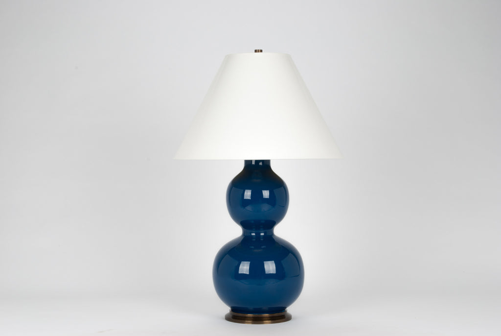 Carleton by Christopher Spitzmiller Natalie Lamp in Midnight Blue Lacquer