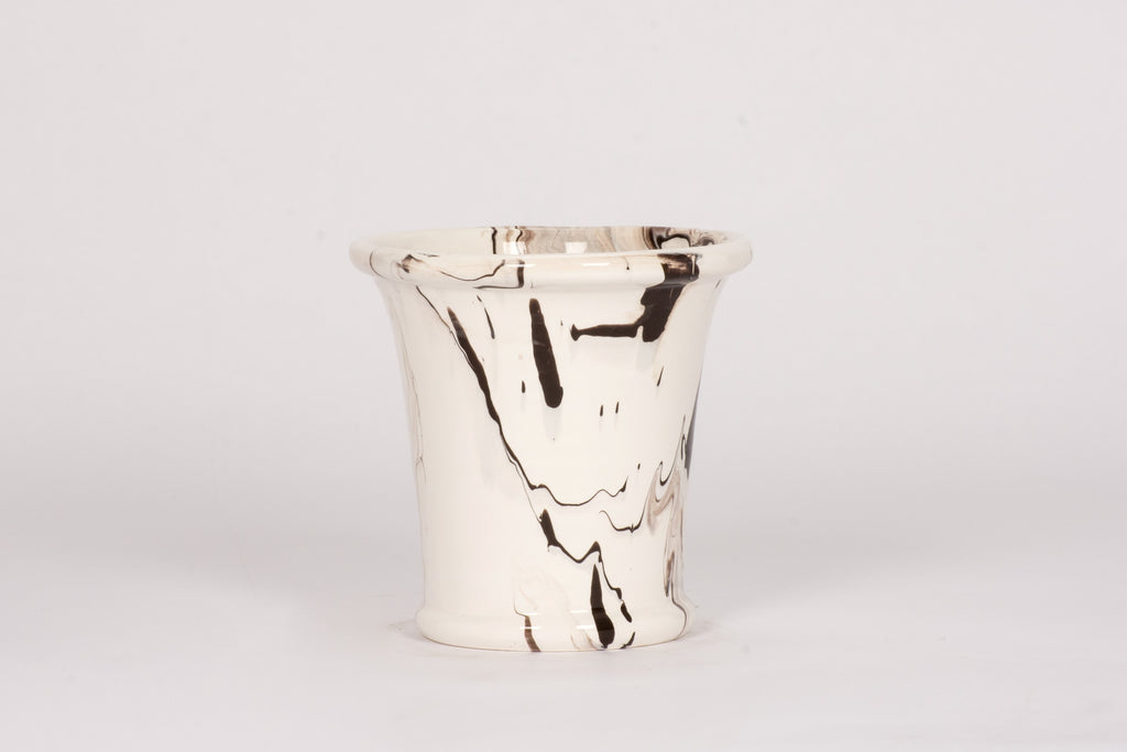 Large Cache Pot in Brown Marble