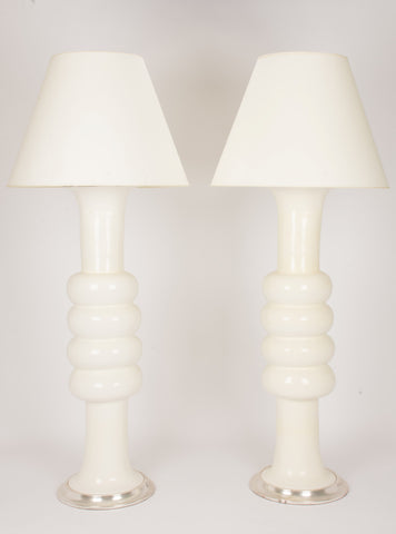 Single Sophie Floor Lamp in Gloss White