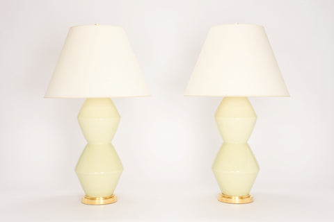Pair of David Lamps in Green Celadon