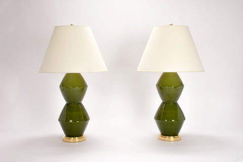 Pair of David Lamps in Spruce