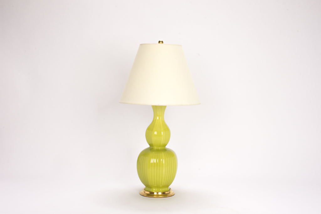 Single Delft Lamp in Apple Green