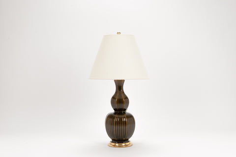 Single Delft Lamp in Olive