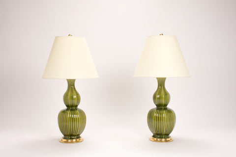 Pair of Delft Lamps in Spruce