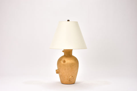 Single Faux Bois Lamp in Gold Luster