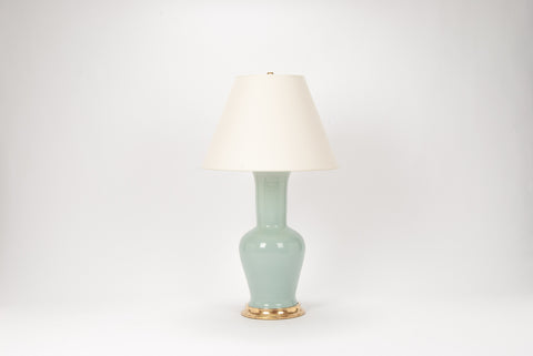 Single Garniture Lamp in Duck Egg