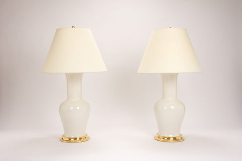 Pair of Garniture Lamps in Frost