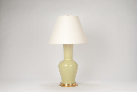 Single Garniture Lamp in Green Celadon