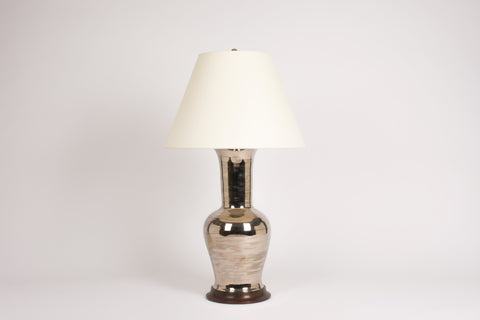 Single Garniture Lamp in Platinum Luster