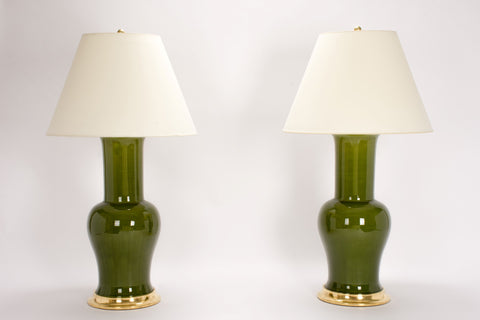 Pair of Garniture Lamps in Spruce