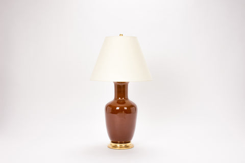 Single Ginger Jar Lamp in Amber