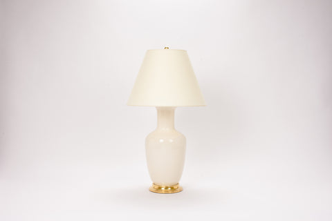 Single Ginger Jar Lamp in Clear Crackle