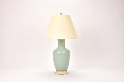 Single Ginger Jar Lamp in Duck Egg