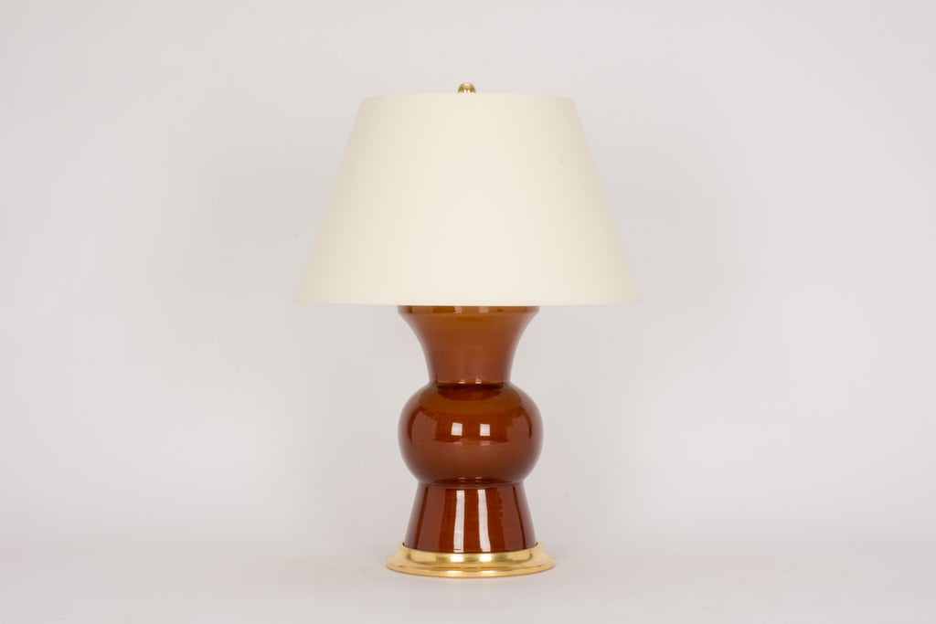 Single Gregory Lamp in Amber