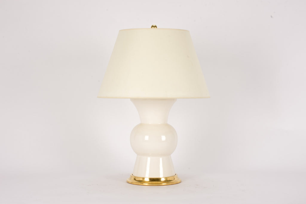 Single Gregory Lamp in Blanc de Chine