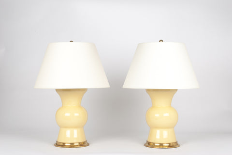 Pair of Gregory Lamps in Butter