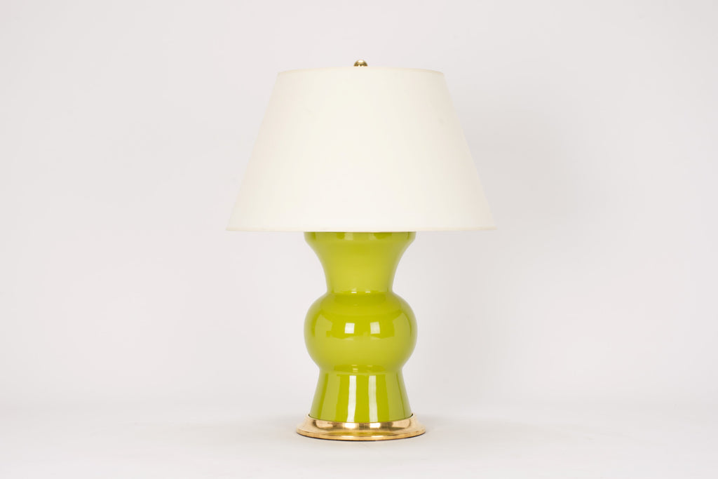 Single Gregory Lamp in Chartreuse