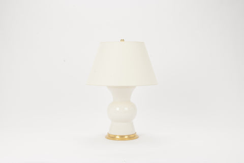 Single Gregory Lamp in Clear Crackle