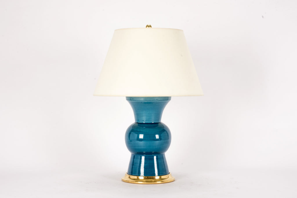 Single Gregory Lamp in Prussian Blue