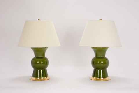 Pair of Gregory Lamps in Spruce