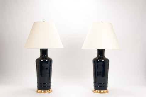 Pair of HB Danny Lamps in Navy