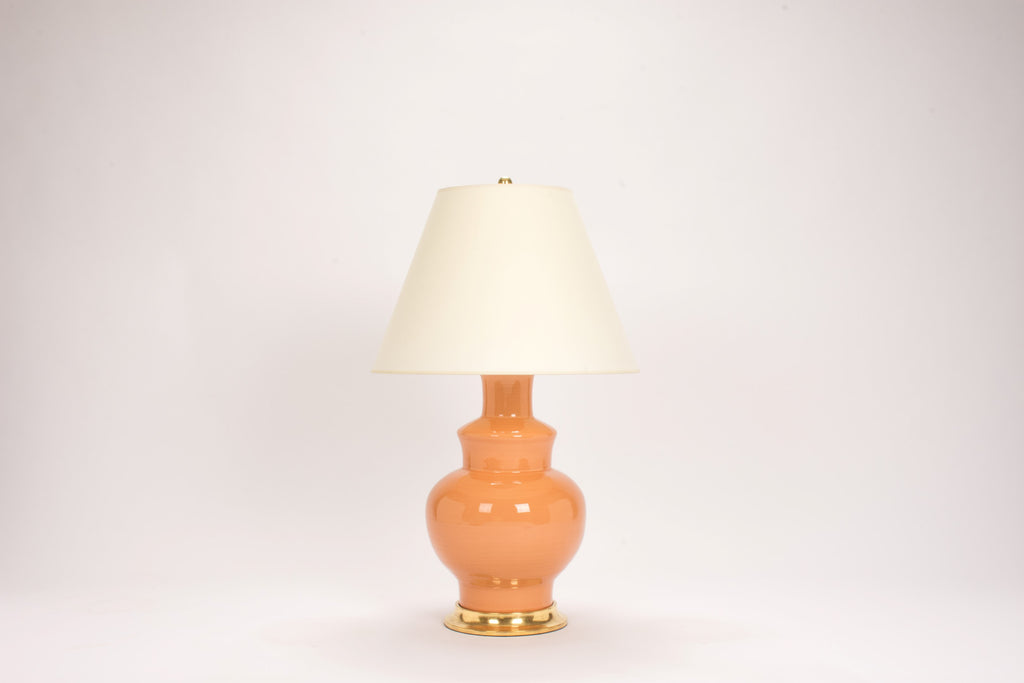 Single HB Kim Lamp in Peach