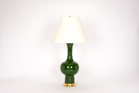 Single HB Patricia Lamp in Dark Green