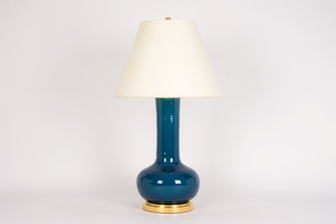 Single HT Ashley Lamp in Prussian Blue