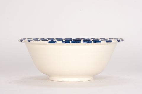 HT Deep Bowl in Blue Dots