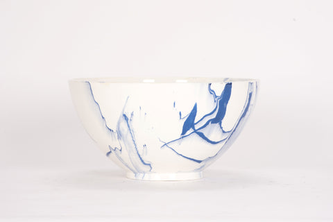 HT Deep Bowl in Delft Blue Marble